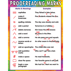 TCR7696 Proofreading Marks Chart Image