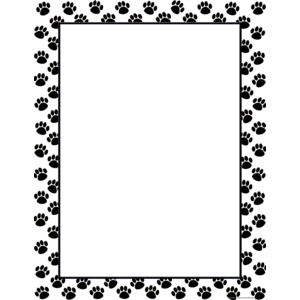 TCR7699 Black Paw Prints Blank Chart Image