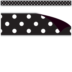 TCR77142 Black Polka Dots Magnetic Strips Image