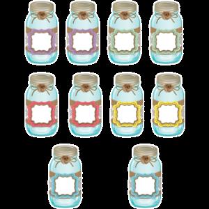 TCR77191 Shabby Chic Mason Jars Accents Image