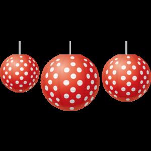 TCR77227 Red Polka Dots Paper Lanterns Image