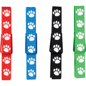 TCR77251 Paw Prints Magnetic Clothespins Image