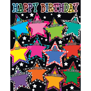 TCR7754 Fancy Stars Happy Birthday Chart Image