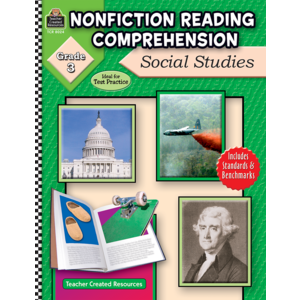 TCR8024 Nonfiction Reading Comprehension: Social Studies, Grade 3 Image