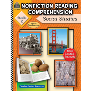 TCR8030 Nonfiction Reading Comprehension: Social Studies, Grade 5 Image