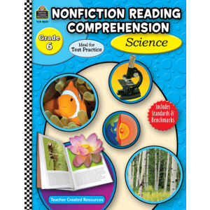 TCR8037 Nonfiction Reading Comprehension: Science, Grade 6 Image