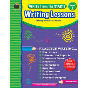 TCR8072 Write from the Start! Writing Lessons Grade 4 Image