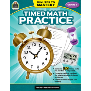 TCR8085 Minutes to Mastery - Timed Math Practice Grade 6 Image
