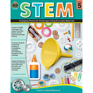 TCR8185 STEM: Engaging Hands-On Challenges Using Everyday Materials Grade 5 Image