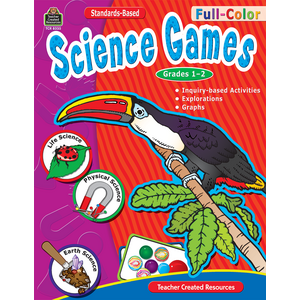TCR8335 Full-Color Science Games, Grades 1-2 Image