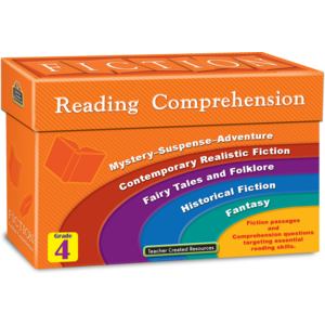 TCR8874 Fiction Reading Comprehension Cards Grade 4 Image