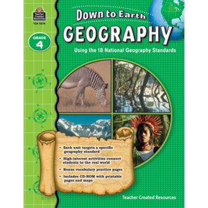 TCR9274 Down to Earth Geography, Grade 4 Image