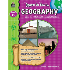 TCR9276 Down to Earth Geography, Grade 6 Image