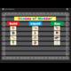 Chalkboard Brights 10 Pocket Chart Alternate Image A'}