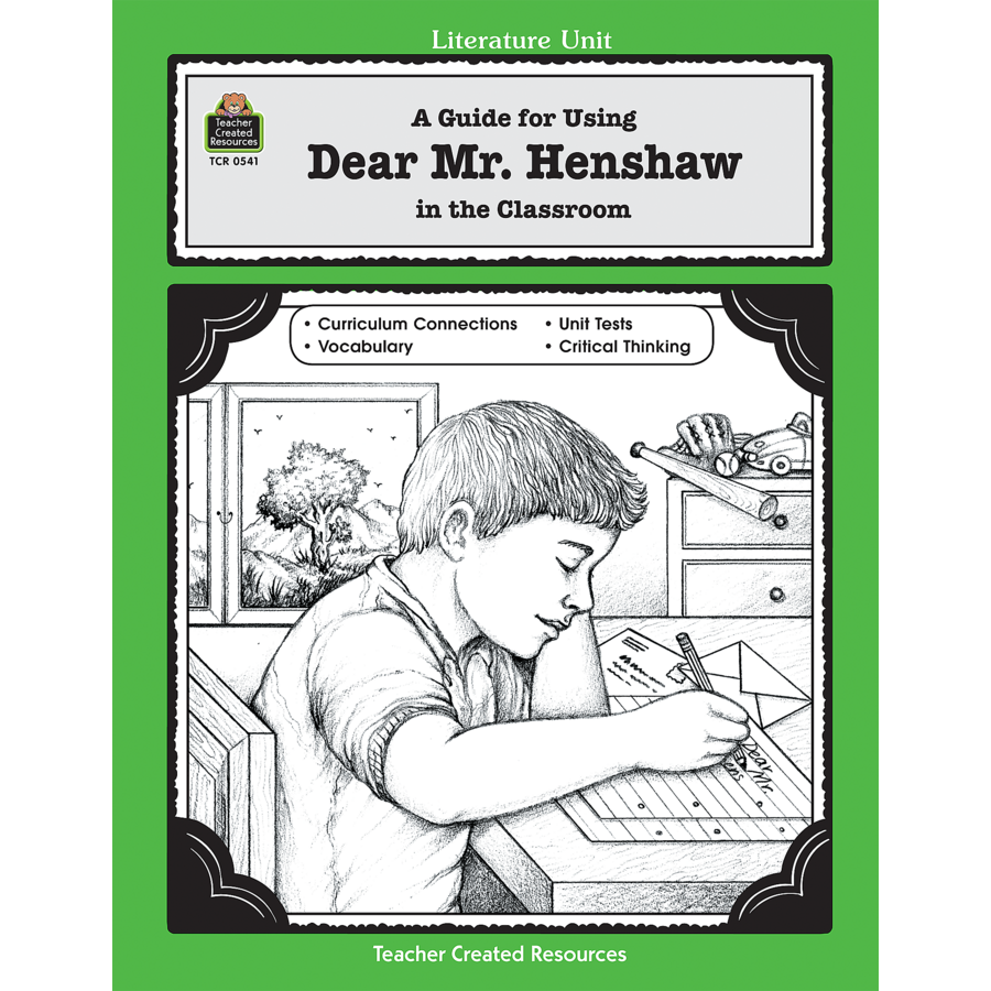 Worksheets Dear Mr Henshaw Worksheets a guide for using dear mr henshaw in the classroom tcr0541 image
