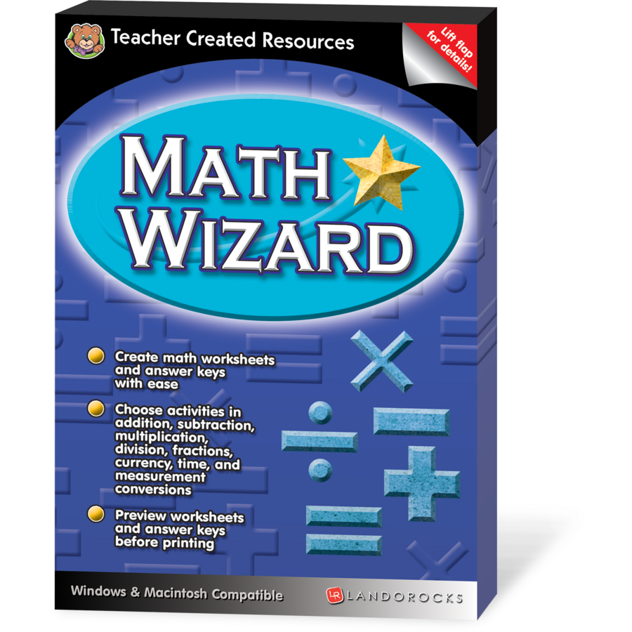 Printables Math Wizard Worksheets math wizard tcr1234 products teacher created resources image