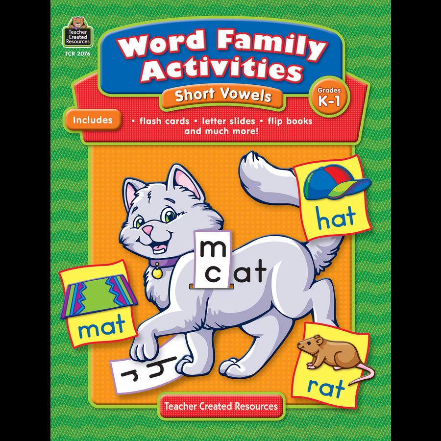 Family Activities: Word Family Activities: Short Vowels Grade K-1