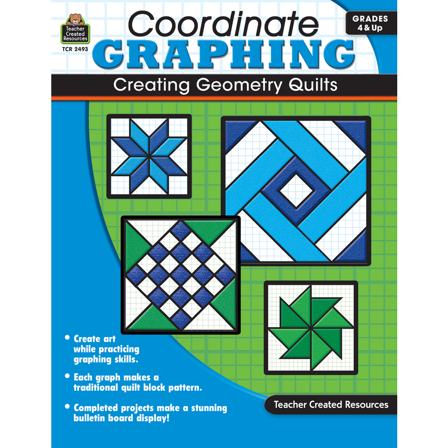 Coordinate Graphing Creating Geometry Quilts Grade 4 Up – Teacher Created Resources Inc Worksheets Answers
