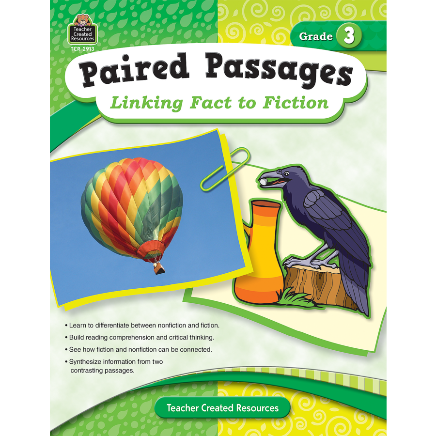Paired Passages Linking Fact to Fiction Grade 3 TCR2913 – Teacher Created Resources Inc Worksheets Answers