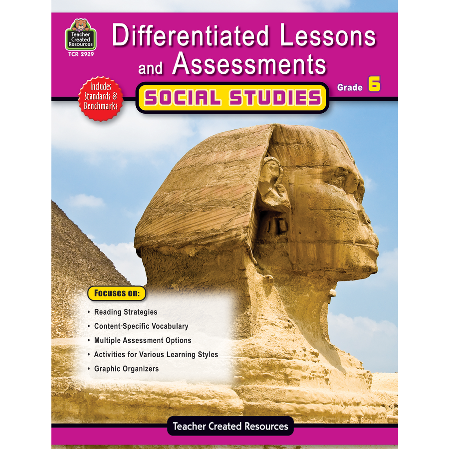Differentiated Lessons Assessments Social Studies Grade 6 – Teacher Created Resources Inc Worksheets Answers