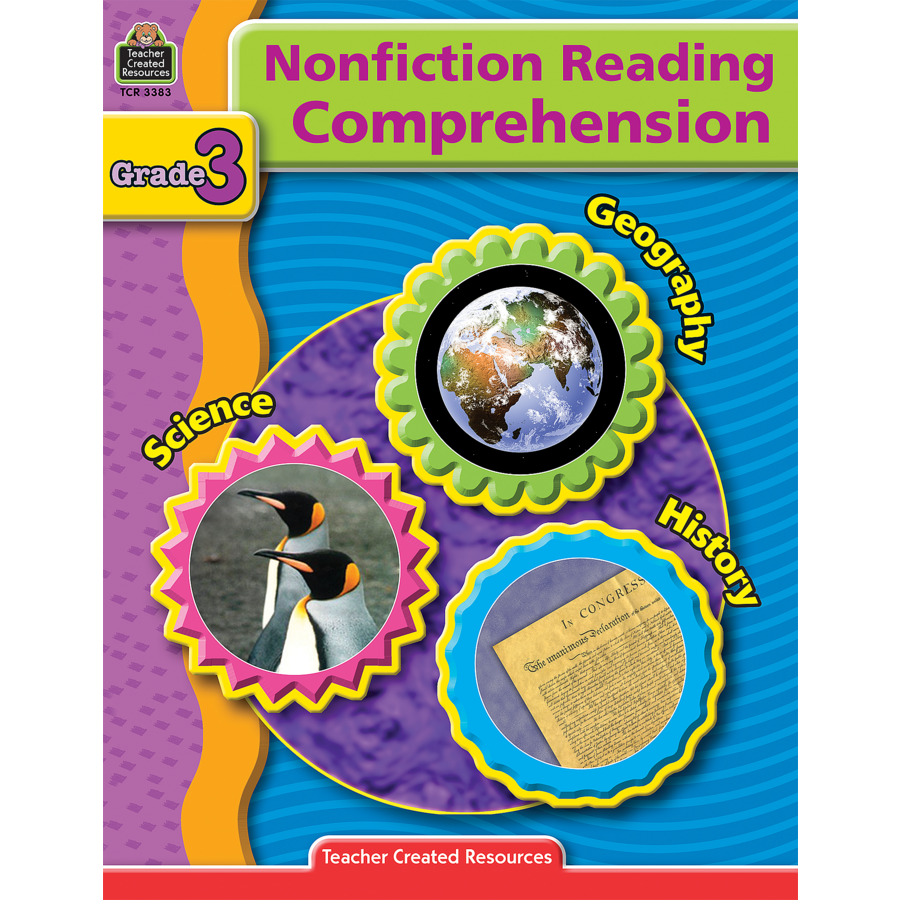 Worksheet Reading Comprehension 3 nonfiction reading comprehension grade 3 tcr3383 products image