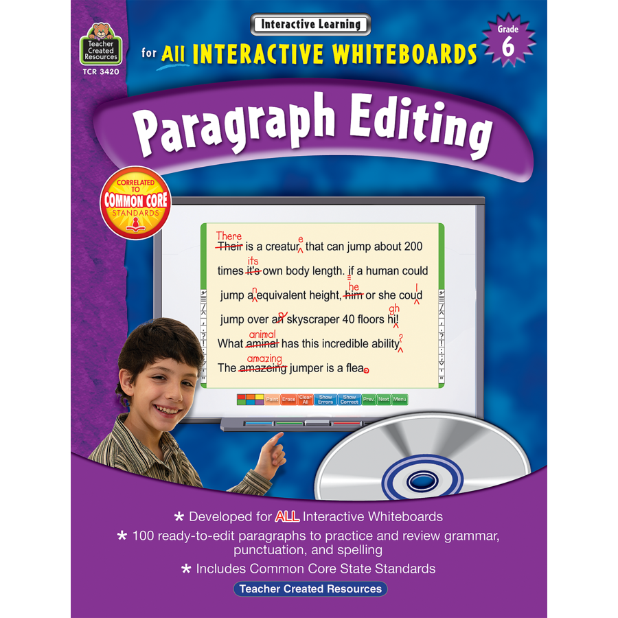 Interactive Learning Paragraph Editing Grade 6 Tcr3420