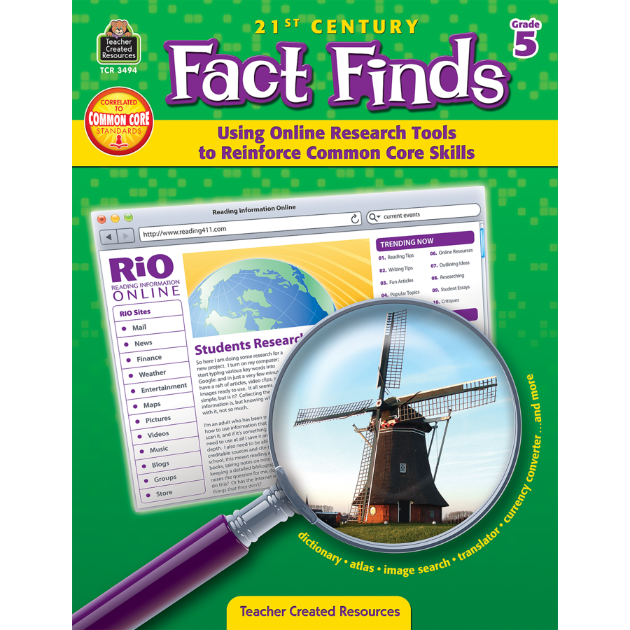 Worksheet Fact Online 21st century fact finds using online research tools to reinforce tcr3494 common core skills