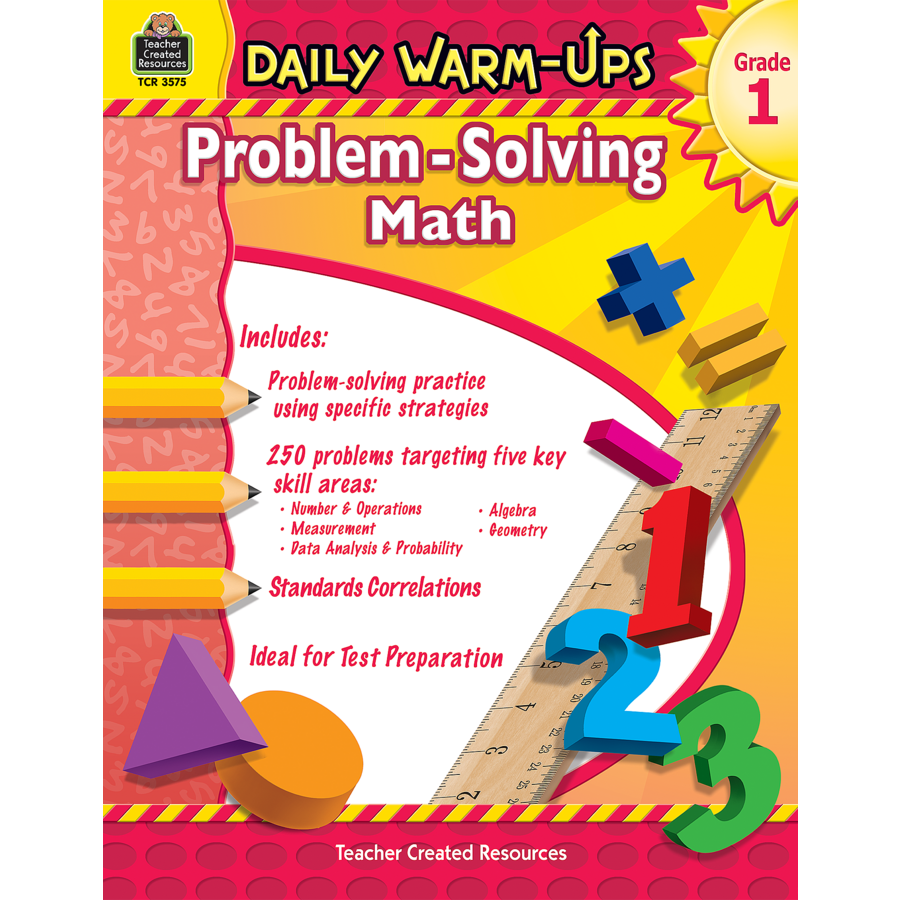 Worksheet Problem Solving Grade 1 daily warm ups problem solving math grade 1 tcr3575 products image