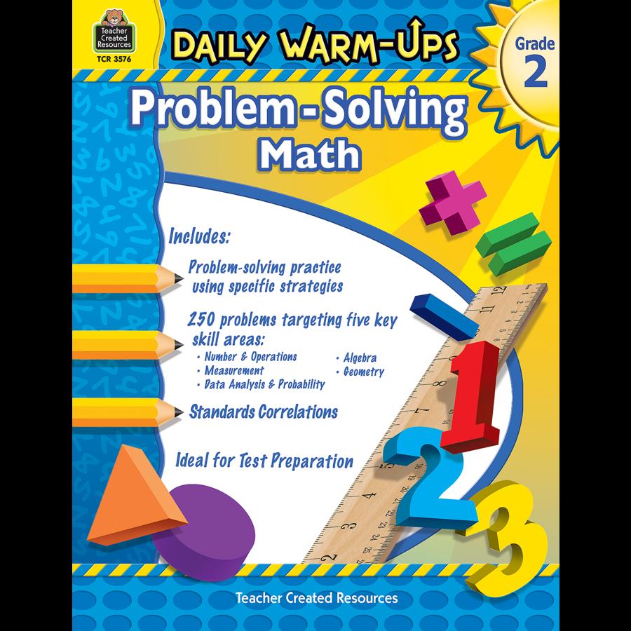 Worksheet Grade 2 daily warm ups problem solving math grade 2 tcr3576 teacher image