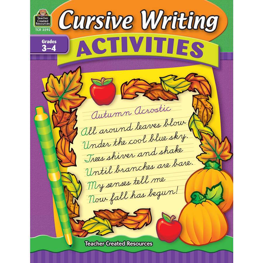Cursive Writing Activities TCR3592 – Teacher Created Resources Inc Worksheets Answers
