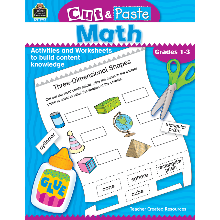Cut and Paste Math TCR3708 – Teacher Created Resources Worksheets