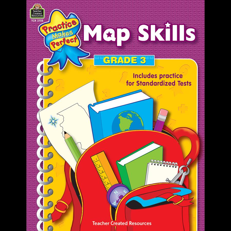 map skills grade 3 tcr3728 teacher created resources. Black Bedroom Furniture Sets. Home Design Ideas