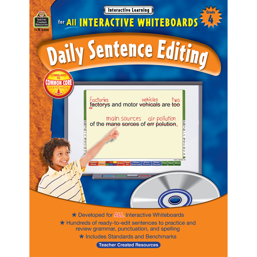 Worksheets Daily Edit Worksheets interactive learning daily sentence editing grade 4 tcr3886 image
