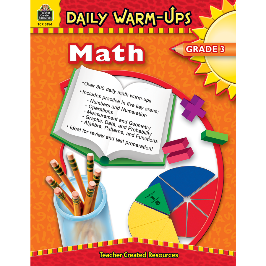 Daily WarmUps Math Grade 3 TCR3961 – Teacher Created Resources Worksheets