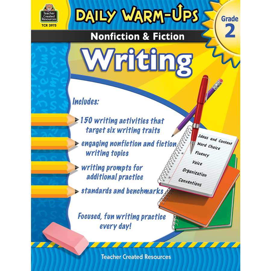 Daily WarmUps Nonfiction Fiction Writing Grade 2 TCR3975 – Teacher Created Resources Worksheets