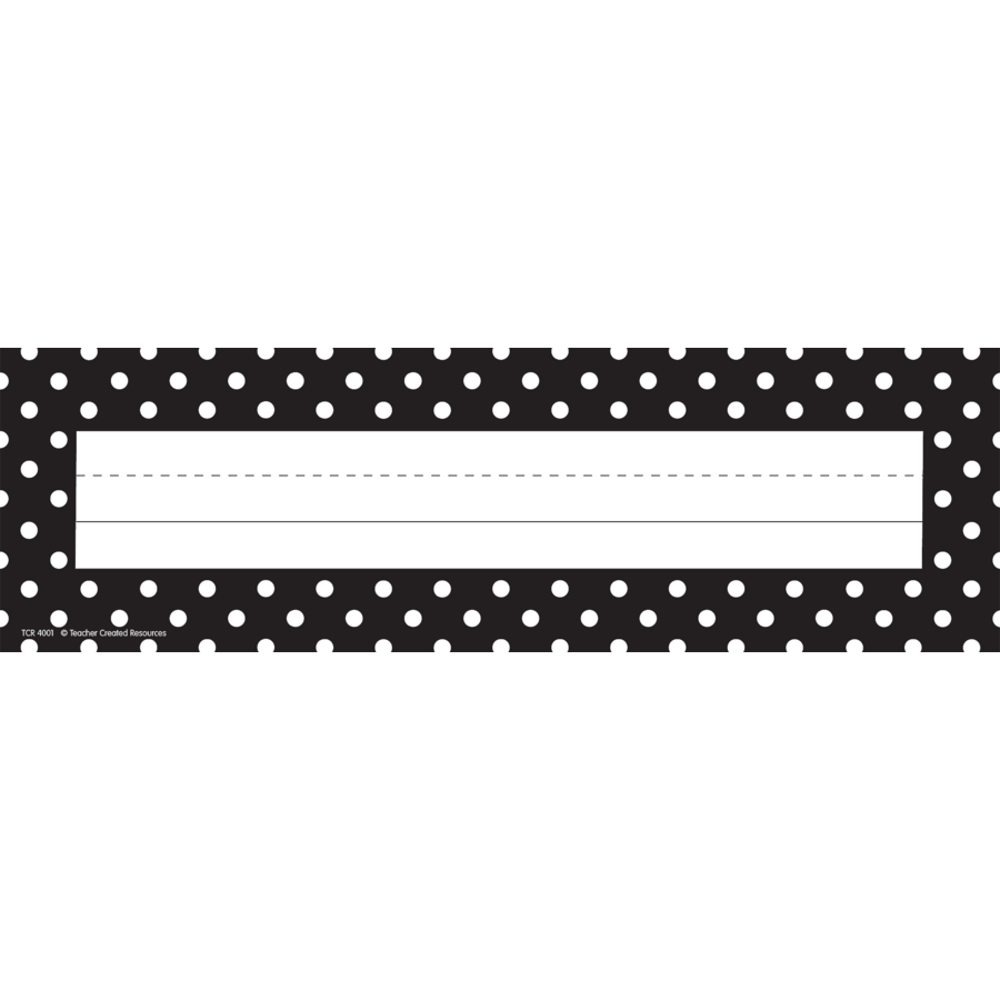 Black Polka Dots Flat Name Plates Tcr4001 Teacher