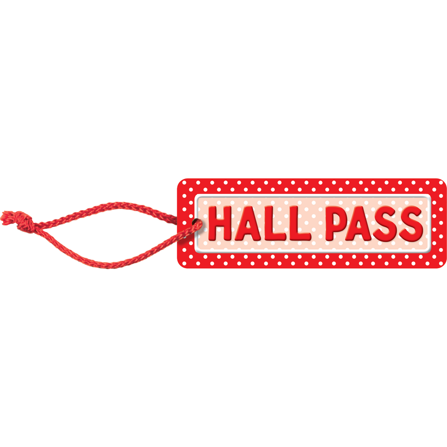 Polka Dots Hall Pass - TCR4753 « Products | Teacher Created Resources