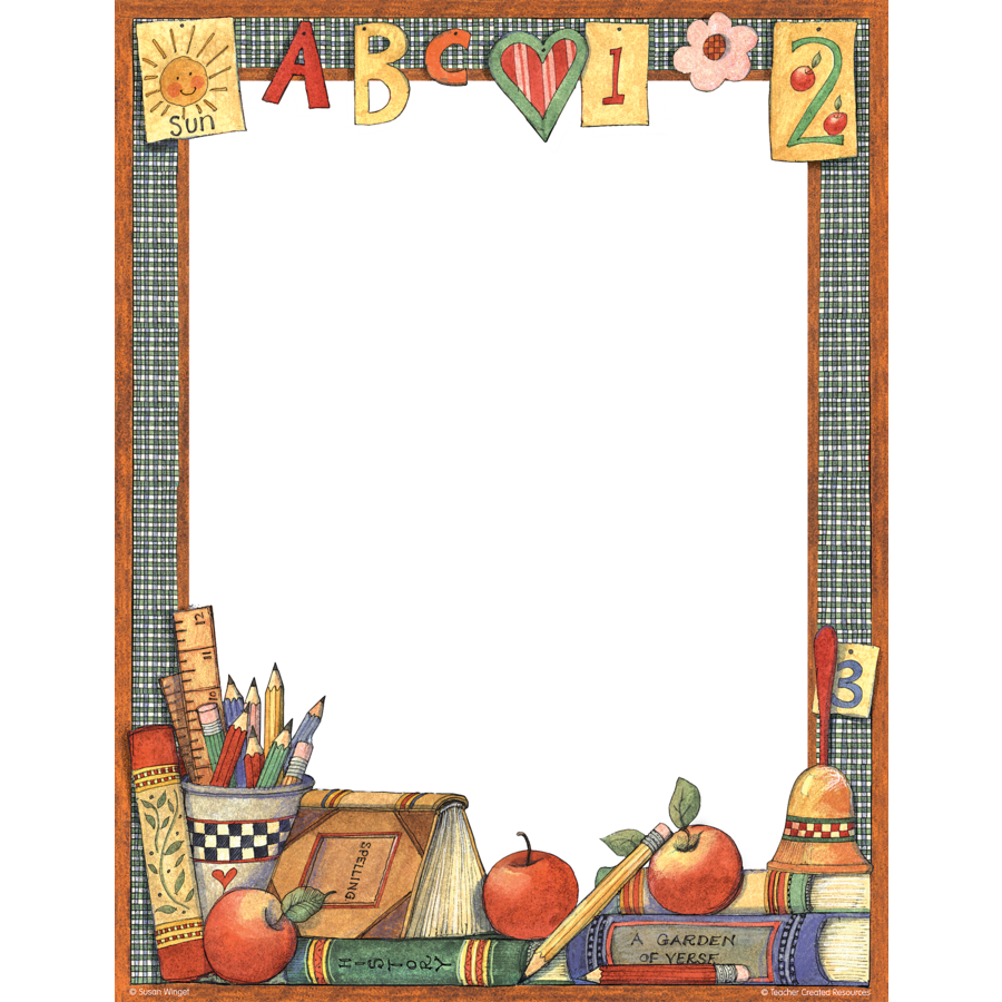 Help with paper borders for teachers