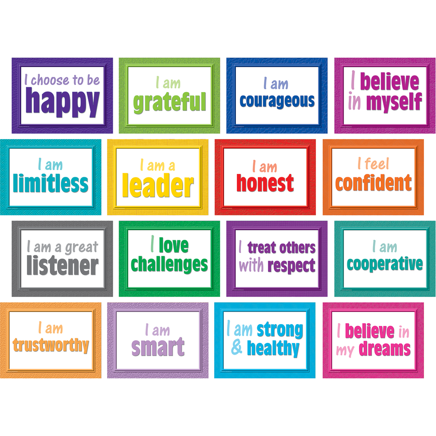Positive posters bulletin board display set tcr5099 for Cork board displays