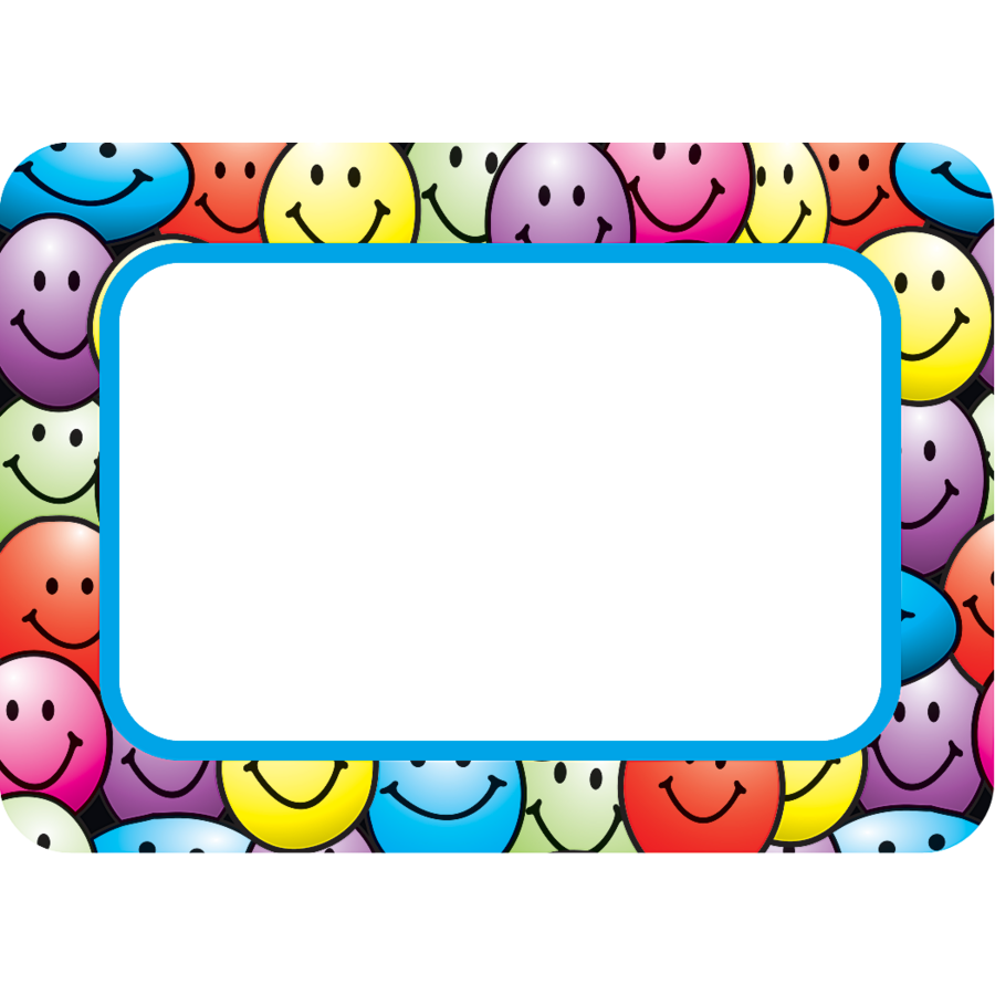 Happy faces name tags labels tcr5172 teacher created for Locker tag templates