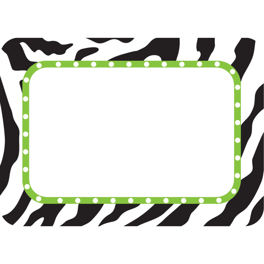 Zebra Name Tags/Labels - TCR5173 | Teacher Created Resources