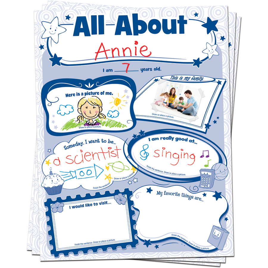 All About Me Poster Pack TCR5222 – Teacher Created Resources Worksheets