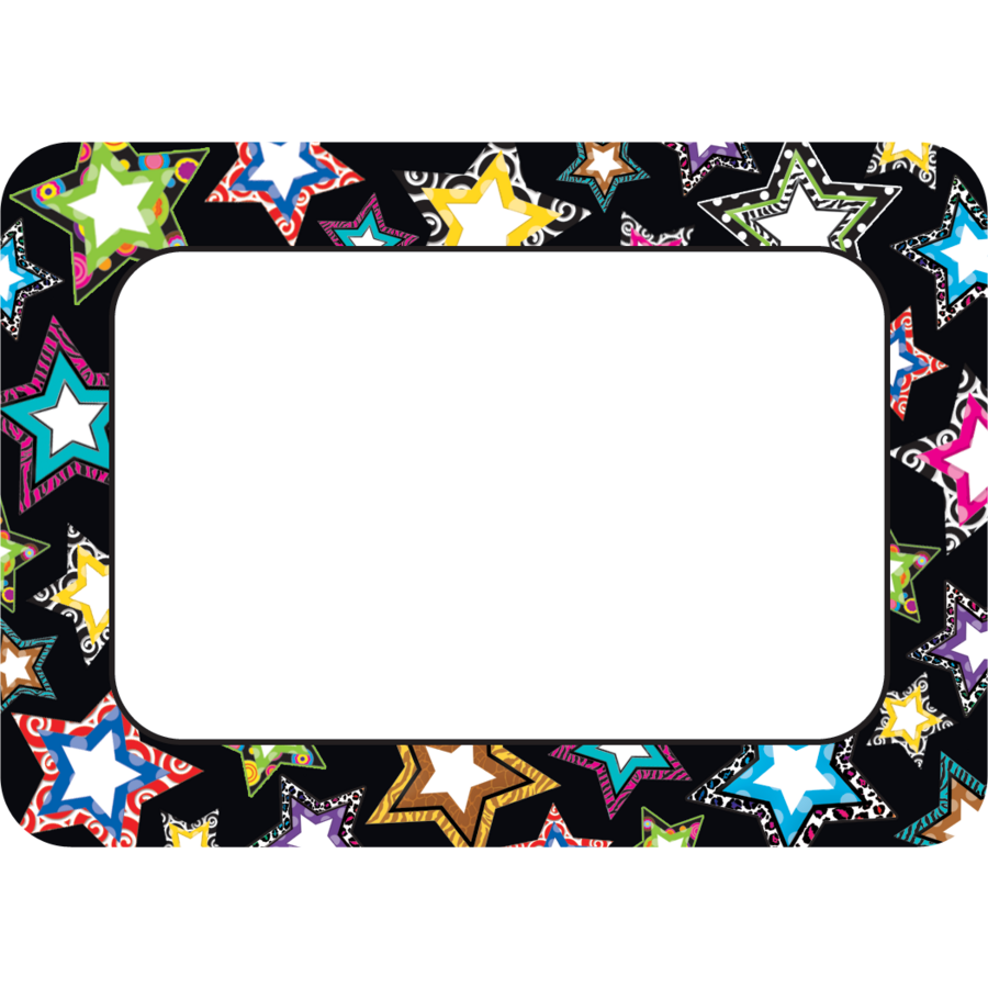 Fancy Stars Name Tags Labels Tcr5260 Teacher Created