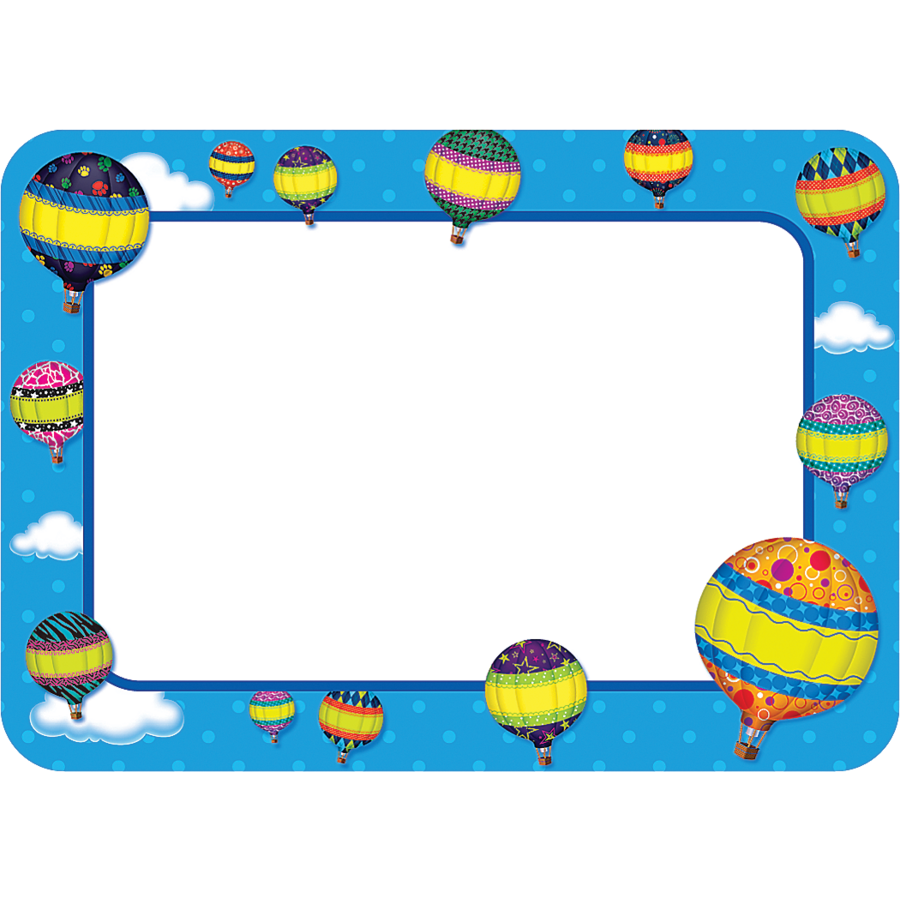 Hot Air Balloons Name Tags Labels 5340 on Latest Common Core Writing Standards