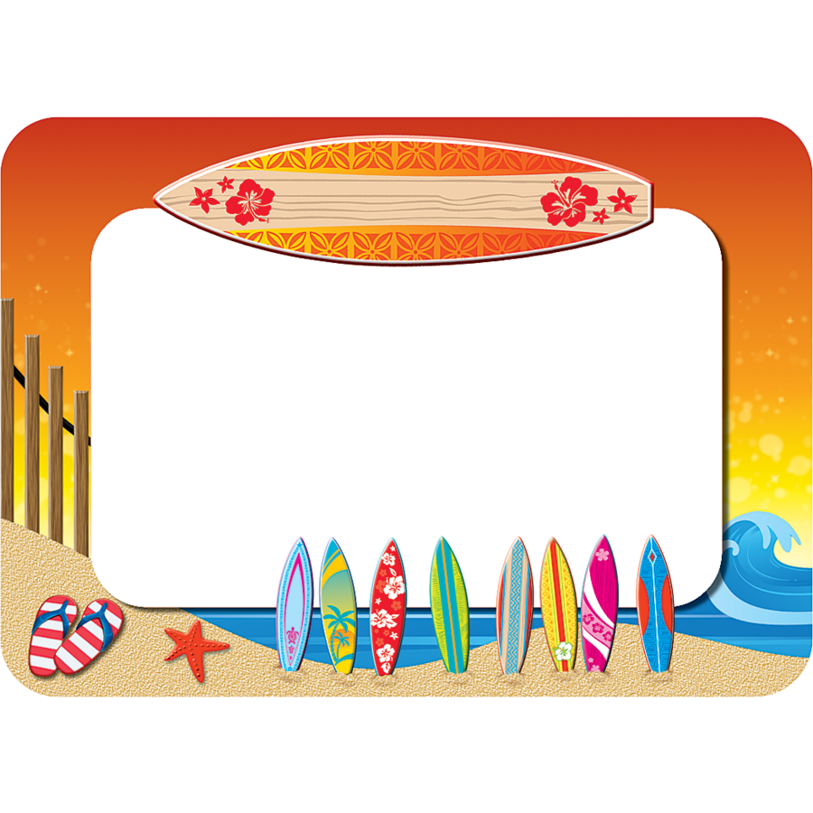 Surf S Up Name Tags Labels Tcr5361 Teacher Created
