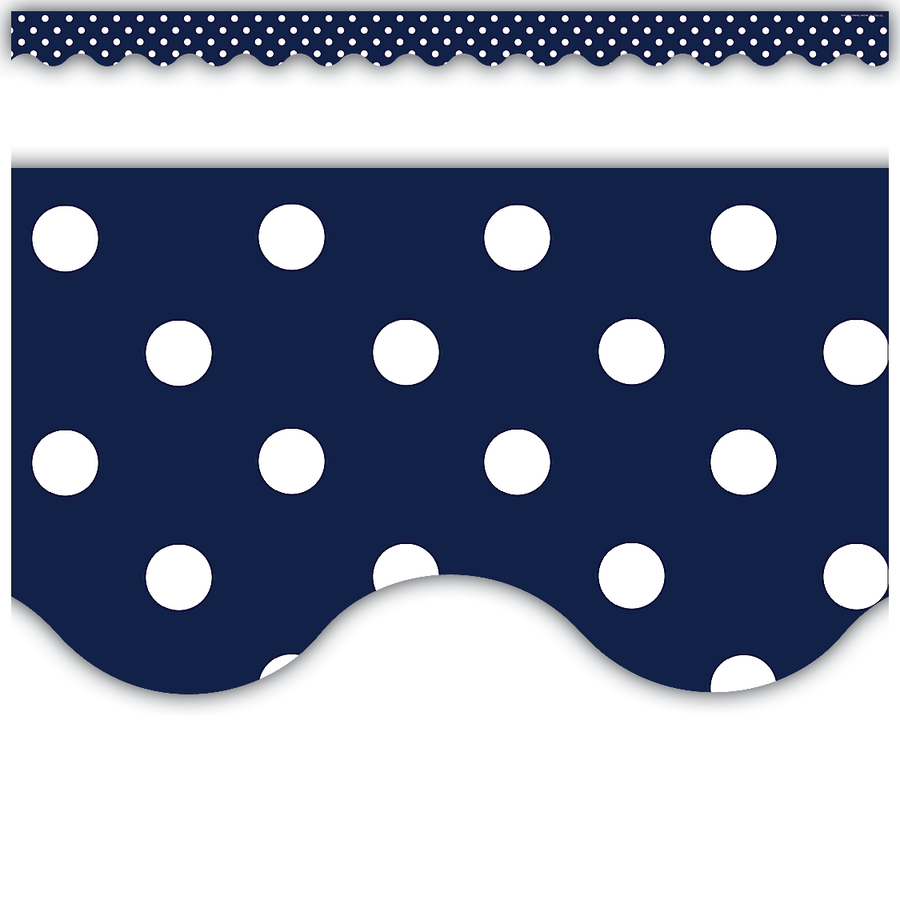 Navy Polka Dots Scalloped Border Trim 5432 on Latest Common Core Writing Standards