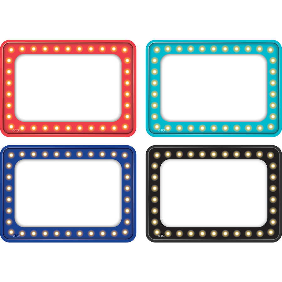 Marquee Name Tags Labels Multi Pack Tcr5433 Teacher