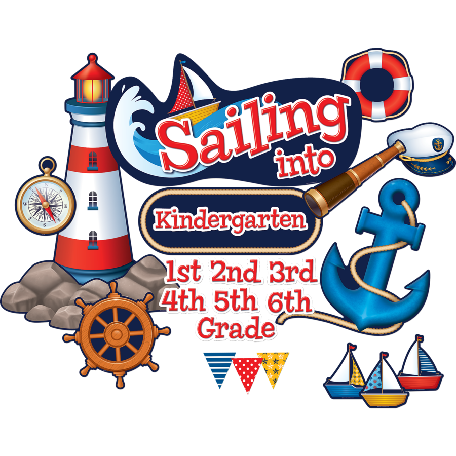 Sailing Into...Bulletin Board Display Set - TCR5440 « Products ...