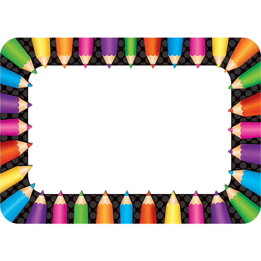 Colored Pencils Name Tags Labels Tcr5513 Teacher