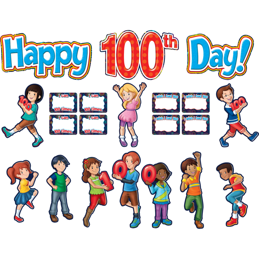Fireworks Happy 100th Day Bulletin Board Display Set - TCR5519 ...